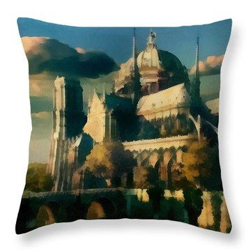 Places Angels Dwell Painted In Bleak Throw Pillow