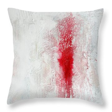 Throw Pillow featuring the painting Placid Catastrophe by Rick Baldwin