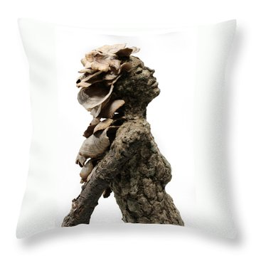 Placid Efflorescence A Sculpture By Adam Long Throw Pillow by Adam Long