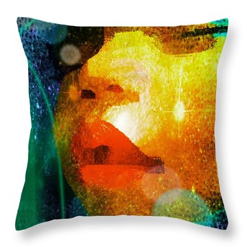 Placid Throw Pillow by Iowan Stone-Flowers