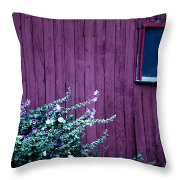 Plain Purple Throw Pillow