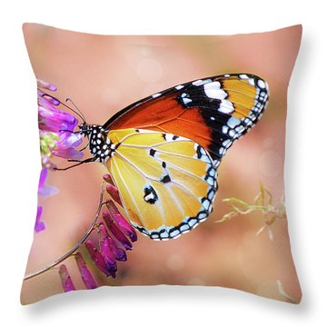 Plain Tiger Throw Pillow