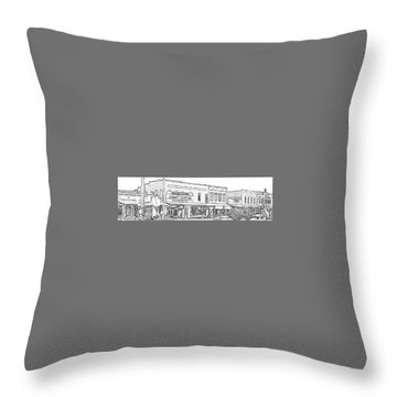 Plains Ga Downtown Throw Pillow