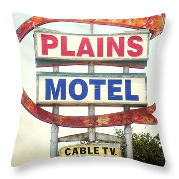 Plains Motel Throw Pillow