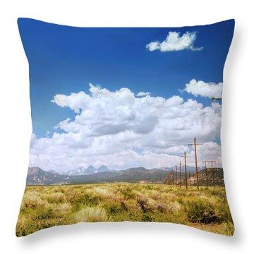 Plains Of The Sierras Throw Pillow