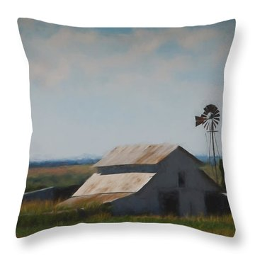 Plains Painted Barn Throw Pillow