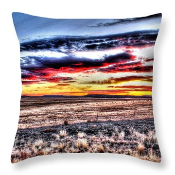 Throw Pillow featuring the photograph Plains Sunset by Beauty For God