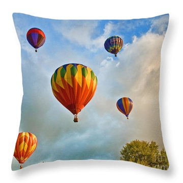 Plainville Balloons 2 Throw Pillow