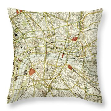 Throw Pillow featuring the photograph Plan Of Central London by Patricia Hofmeester
