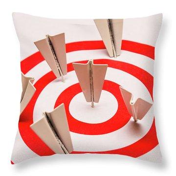 Plane Goal Throw Pillow