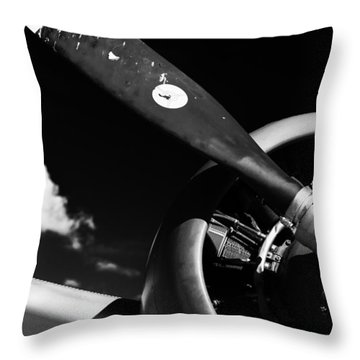 Throw Pillow featuring the photograph Plane Portrait 1 by Ryan Weddle