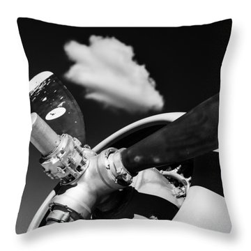 Throw Pillow featuring the photograph Plane Portrait 2 by Ryan Weddle