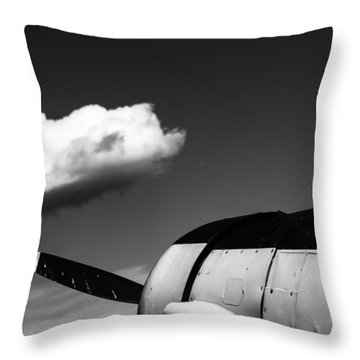 Throw Pillow featuring the photograph Plane Portrait 3 by Ryan Weddle