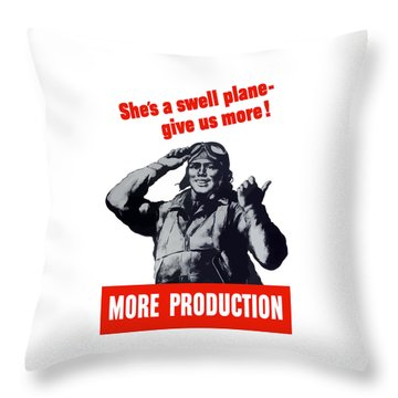 Plane Production Give Us More Throw Pillow by War Is Hell Store