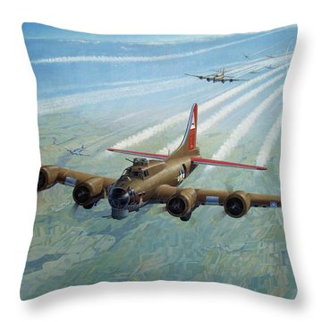 Throw Pillow featuring the photograph Plane by Test