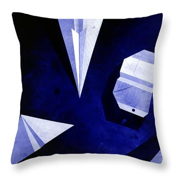 Planes On Blue Throw Pillow