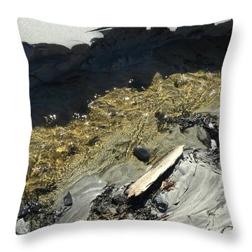 Planet Beach Throw Pillow
