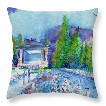 Planet Bluegrass Lyons Colorado Throw Pillow by David Sockrider