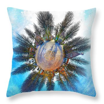 Planet Bourtange Throw Pillow