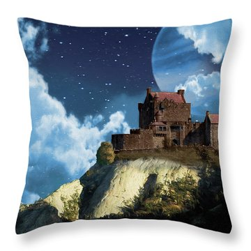 Planet Castle Throw Pillow