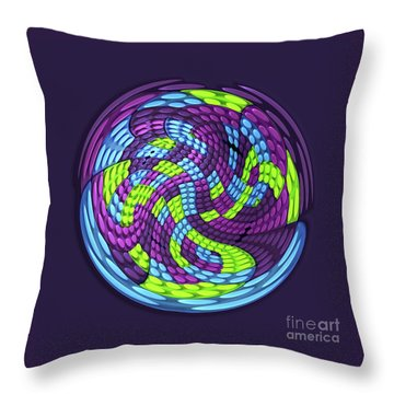 Planet Throw Pillow by Efrat Fass