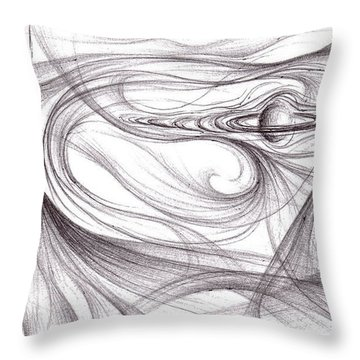 Planet Egypt Throw Pillow