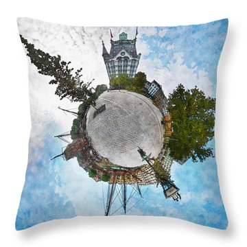 Planet Gelderseplein Rotterdam Throw Pillow