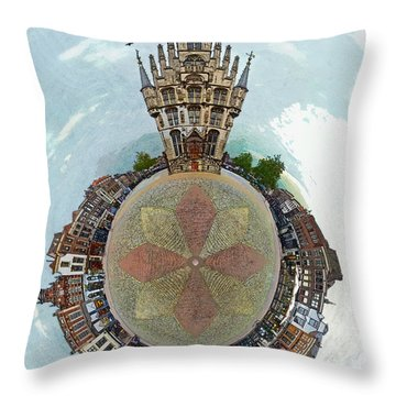 Planet Gouda Throw Pillow