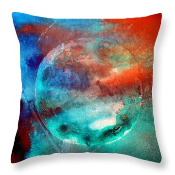 Planet In Galaxy Andromeda Throw Pillow