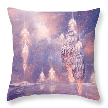 Shell City Throw Pillow