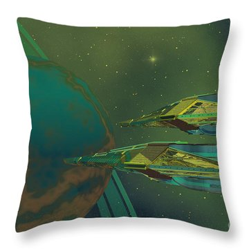 Planet Of Origin Throw Pillow by Corey Ford