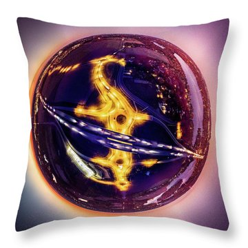 Throw Pillow featuring the photograph Planet Of The Roundabouts At Dusk by Randy Scherkenbach
