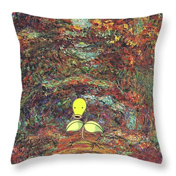 Throw Pillow featuring the digital art Planet Pokemonet  by Greg Sharpe