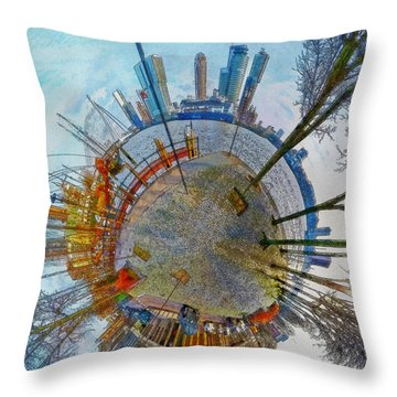 Planet Rotterdam Throw Pillow