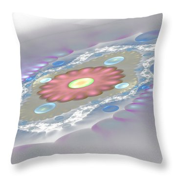Planet Surface Throw Pillow