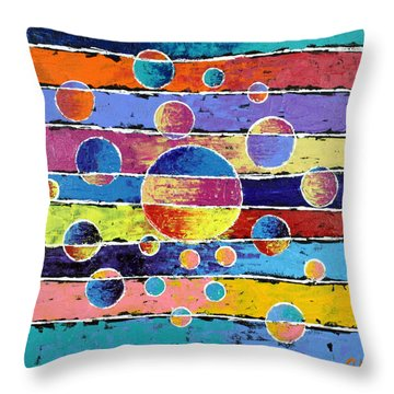 Planet System Throw Pillow by Jeremy Aiyadurai