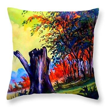 Planeta Verde Throw Pillow by Leomariano artist BRASIL