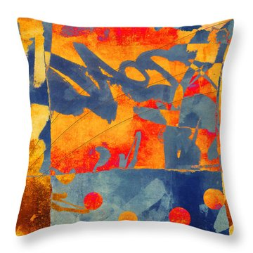 Planetary Celebration Throw Pillow