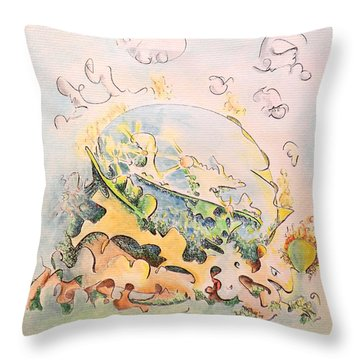 Planetary Chariot Throw Pillow