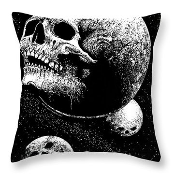 Planetary Decay Throw Pillow