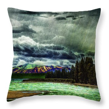 Planetary Infection Throw Pillow