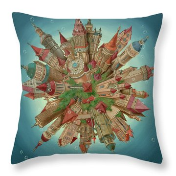 Planetoid Throw Pillow