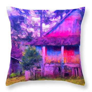 Plank Homes Throw Pillow