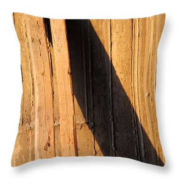 Throw Pillow featuring the photograph Plank Rest  by Jez C Self