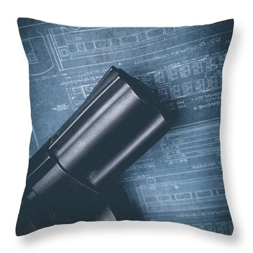 Throw Pillow featuring the photograph Planning The Heist by Edward Fielding