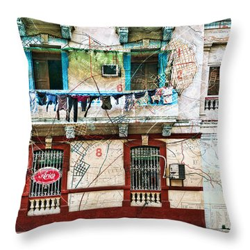 Plano De La Habana Throw Pillow