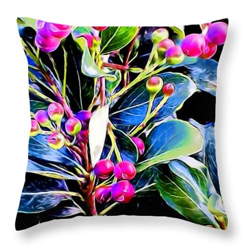 Plant 14 In Abstract Throw Pillow