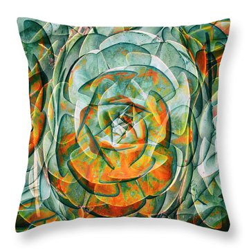 Throw Pillow featuring the photograph Plant Abstract by Wayne Sherriff