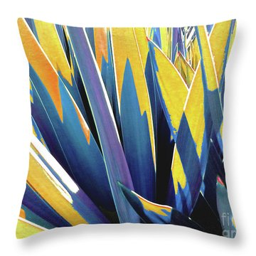 Throw Pillow featuring the photograph Plant Burst - Yellow by Rebecca Harman