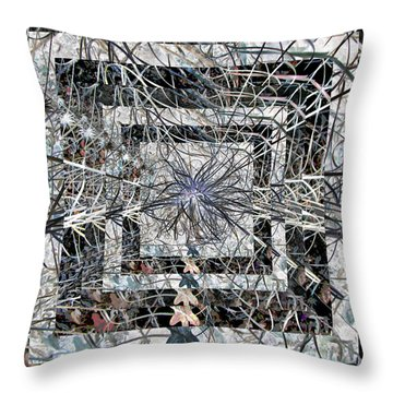 Plant Energy Kaleidoscope Throw Pillow